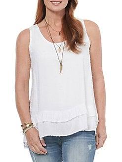 Big Girls White//Purple, L Monteau Graphic-Print Shirt