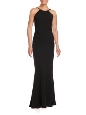Crepe Halter Dress by Calvin Klein