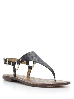 Greta Harness Ring Leather Thong Sandals by Sam Edelman