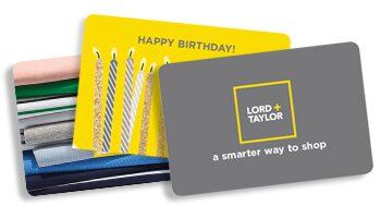 Lordandtaylor com - Credit Card-Style Gift Card - Virtual Gift Card