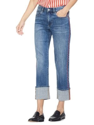 802ef6f82 QUICK VIEW. Vince Camuto. Sunrise Bay Straight-Leg Contrast-Pipe Jeans