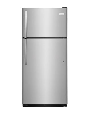 Réfrigérateur à congélateur supérieur et à porte réversible 18 pi³ Frigidaire - inox photo