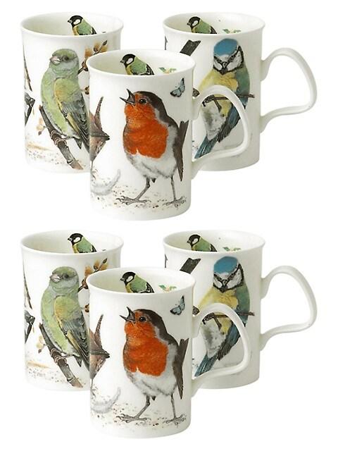 Roy Kirkham Garden Birds 6 Piece Lancaster Mug Set Thebay