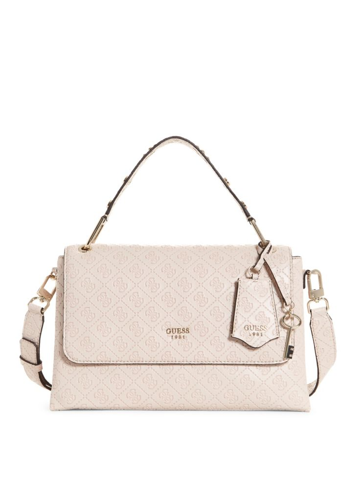 a4d36bf6564c GUESS - Coast to Coast Top Handle Flap Bag - thebay.com