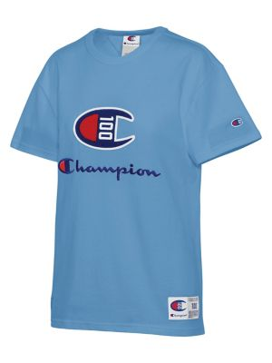a499d649c0b75 QUICK VIEW. Champion. Century Logo Cotton Tee.  45.00. Logo Leather Lace-Up  Sneakers WHITE
