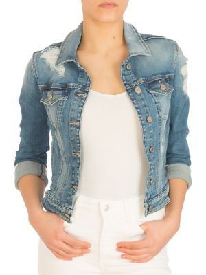 43334093a4f14 QUICK VIEW. GUESS. Distressed Sexy Denim Trucker Jacket