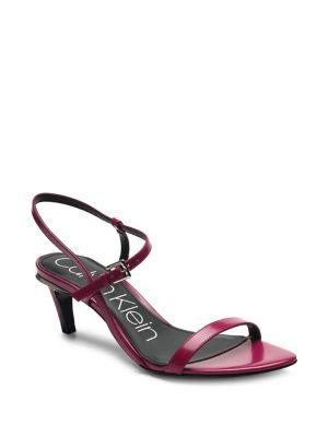 b4f1c3db020 Product image. QUICK VIEW. Calvin Klein. Garrina Kitten Heel Leather Sandals