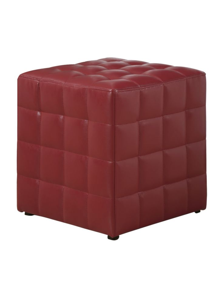 Monarch Leather Look Quilted Ottoman Thebaycom