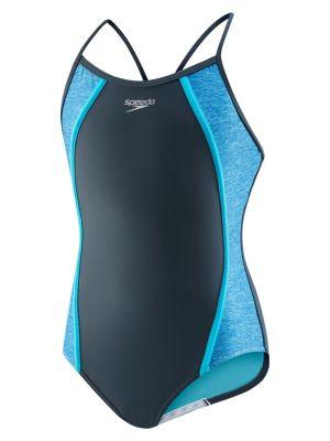 029257dcd9 Product image. QUICK VIEW. Speedo. Girl's Heather One-Piece Swimsuit