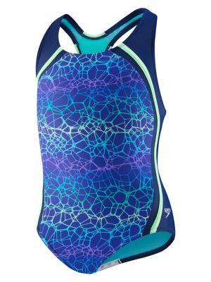 4b5694fec05c6 Speedo. Girls Heather Thin Strap One-Piece Swimsuit. $48.00 Now $33.60 ·  Girl's Digi Zigzag One-Piece Swimsuit BLUE HARMONY. QUICK VIEW. Product  image