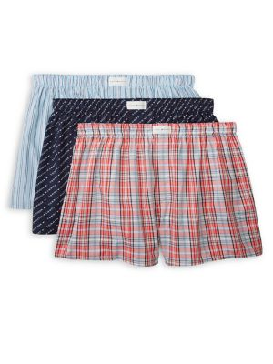 fcf598d185df 3-Pack Printed Cotton Boxers RED. QUICK VIEW. Product image. QUICK VIEW. Tommy  Hilfiger
