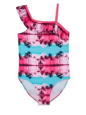 0a9b696ee Girl's Printed One-Piece Swimsuit BLUE. QUICK VIEW. Product image