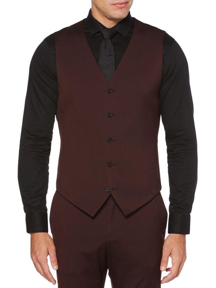 49c91ba6b4 Perry Ellis - Slim-Fit Stretch Twill Suit Vest - thebay.com