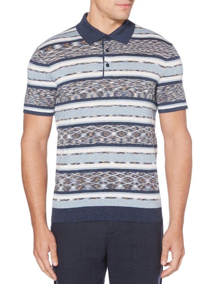 d4f2833c6 Perry Ellis - Space Dye Short Sleeve Polo Sweater - thebay.com