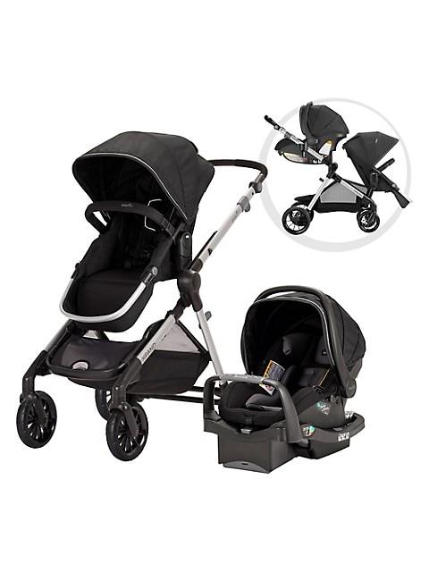 Evenflo Pivot Xpand Modular Travel System Stroller with SafeMax Infant Car Seat - Stallion