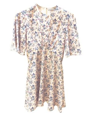 c06155fa4161b QUICK VIEW. Les Reveries. Flutter Sleeve Printed Mini Dress