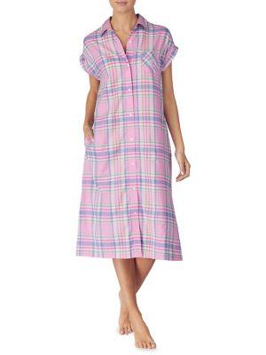 2132ba1169 Product image. QUICK VIEW. Lauren Ralph Lauren. Plaid Long Woven  Sleepshirt.  89.00 · Two-Piece Printed Shorty Pyjama Set ...