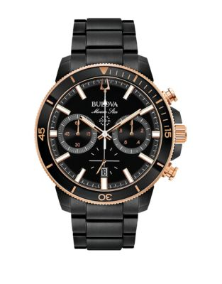 576324414643 QUICK VIEW. Bulova. Marine Star Collection Chronograph Black Stainless  Steel Link Bracelet Watch