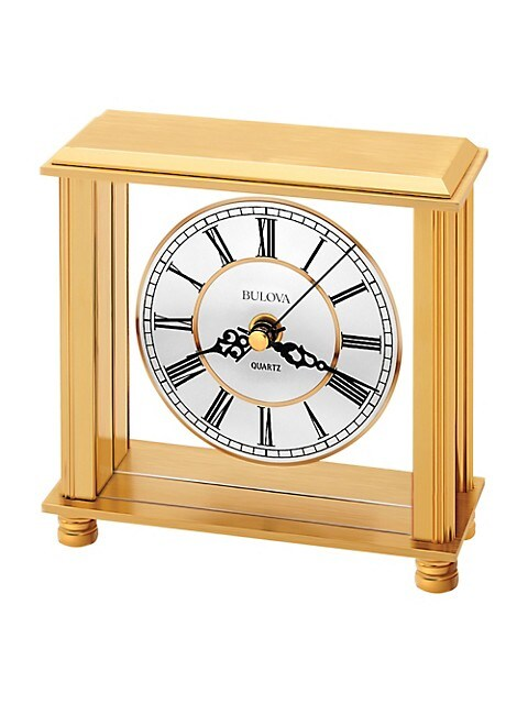 Bulova Cheryl Brass Table Clock