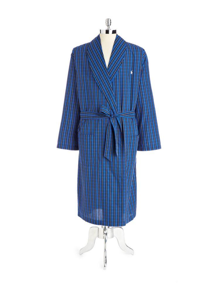 Polo Ralph Lauren - Robe de chambre tissée en tartan de coton ... ffb0925cf033