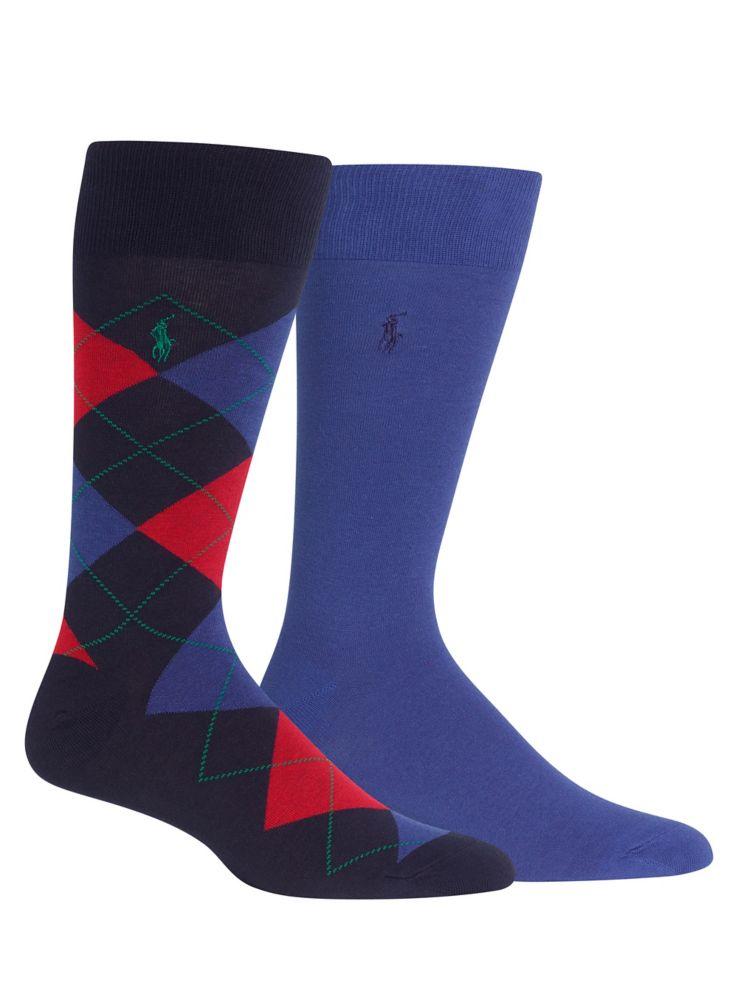 Polo Ralph Lauren - Mens Two-Pack Argyle Dress Socks - thebay.com 2ec57e07e268