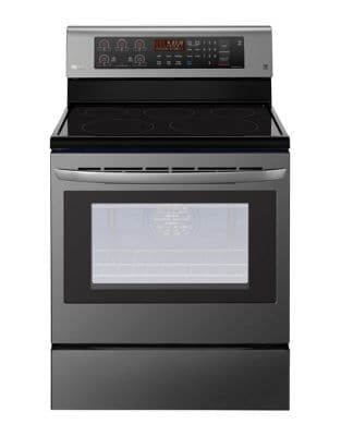 LRE3193BD - 6.3 cu. ft Electric Range with EasyClean and True Convection Black Stainless Steel photo
