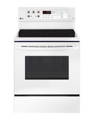 LRE3193SW - 6.3 cu. ft Electric Range with EasyClean and True Convection White photo
