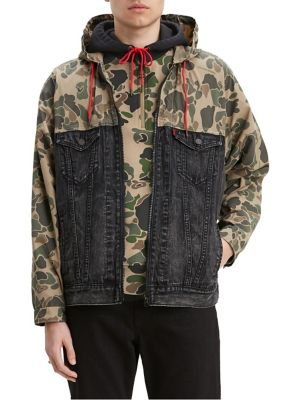 2019380c15b7b Product image. QUICK VIEW. Levi's. Levi's x Justin Timberlake Fresh Leaves  Hybrid Camouflage Cotton Blend & Denim Trucker Jacket