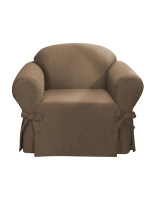 Product image. QUICK VIEW. Sure Fit. Surefit Bruce Suede One-Piece Chair  Slipcover 248020e123