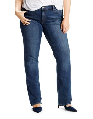 9d1881d417 Plus Relaxed Straight Fit Jeans BLUE. QUICK VIEW. Product image