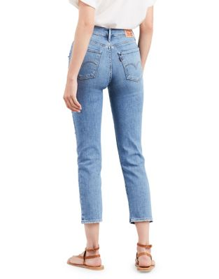 724 Straight Crop Distressed Jeans by Levi's