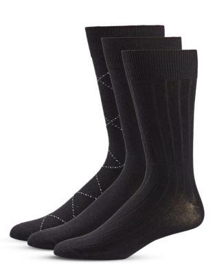 c00912f02f QUICK VIEW. Black Brown 1826. 3-Pack Crew Socks Set.  18.00 Now  12.60