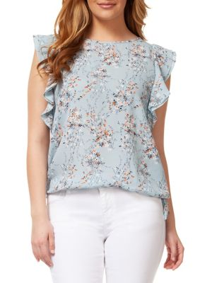 07fe13d967527b Product image. QUICK VIEW. Dex. Ruffle-Sleeve Floral Top