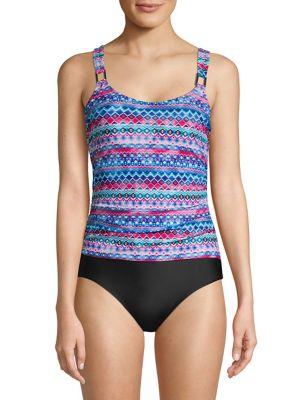 d91cbbb10e83c QUICK VIEW. Christina Blue. Graphic One-Piece Swimsuit
