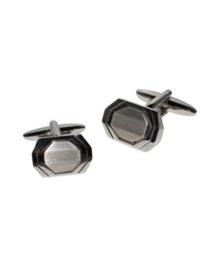 8fe515ba58 QUICK VIEW. Black Brown 1826. Brushed Octagon Cufflinks