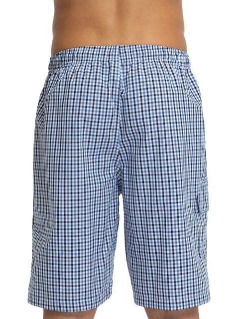 Joe Boxer Short de pyjama à carreaux en popeline BLEU/BLANC