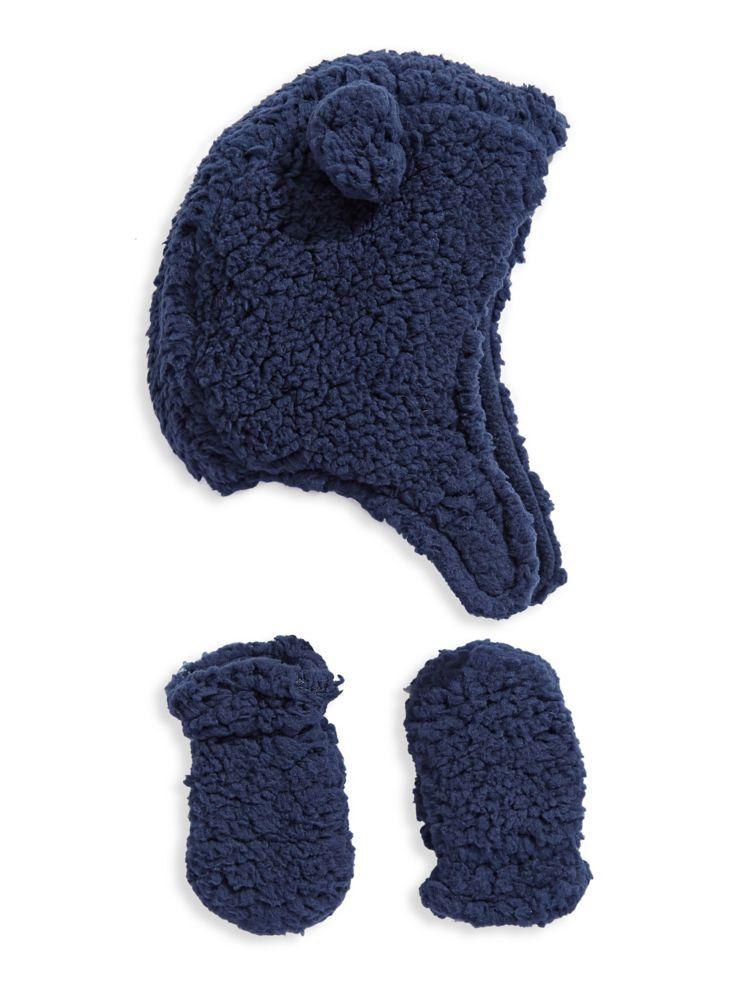 Fits - Baby Boy s Sherpa Fleece Helmet Hat and Mitt Set - thebay.com 5a7dd44b050