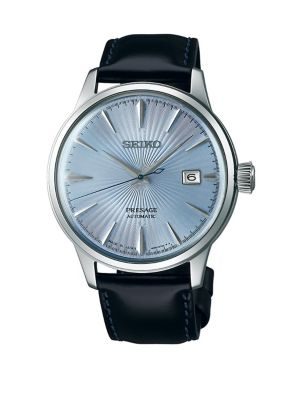 Seiko Presage Automatic Stainless Steel Leather-Strap Watch