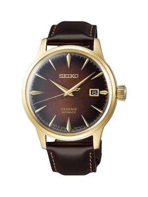 Seiko Presage Limited-Edition Rose Goldtone Stainless Steel & Leather-Strap Automatic Watch