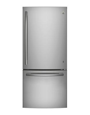 GDE21DSKSS - 20.9 Cu. Ft. Bottom-Freezer Refrigerator Stainless Steel photo