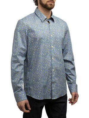 7da7ca9183 QUICK VIEW. English Laundry. Kaleidoscope Printed Regular-Fit Button-Down  Shirt