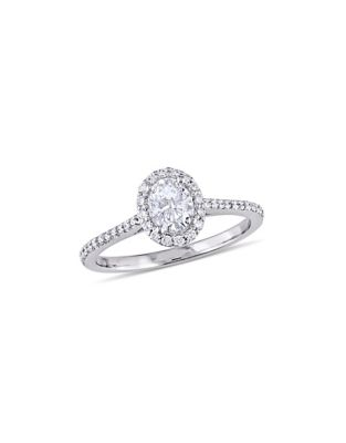2ee64b1e5 Halo 14K White Gold Engagement Ring with 0.75 TCW Diamond