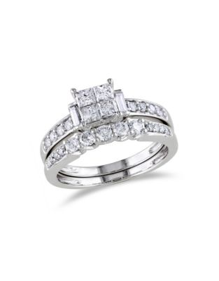 QUICK VIEW. Concerto. 14K White Gold Multi-Shape 1 Total Carat Weight Diamonds Wedding Ring Set. $4,300.00. online only