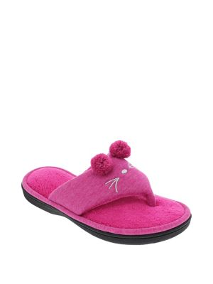 867110af370 QUICK VIEW. ISOTONER. Pom-Pom Thong Toe Slippers