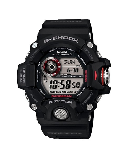 Casio G-Shock Master of G Rangeman Black Resin Strap Watch