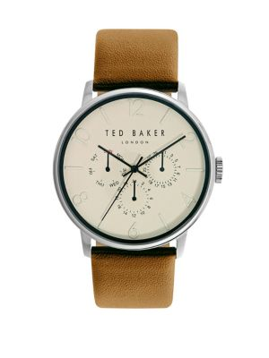 6c81d1c8720828 QUICK VIEW. Ted Baker London. James Chronograph Stainless Steel Leather  Strap Watch