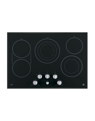 CP9530SJSS 30-inch Electric Cooktop with Infinite Knob Control - Black on Stainless Steel photo
