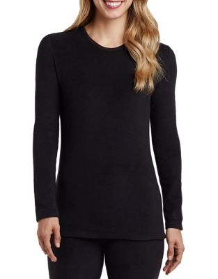 Fleecewear With Stretch Long Sleeve Crew Top by Cuddl Duds