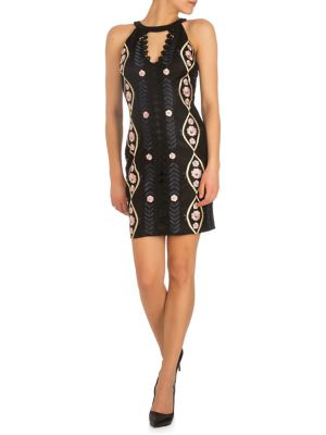 e8307d60bc Product image. QUICK VIEW. GUESS. Floral Embroidered Sheath Dress