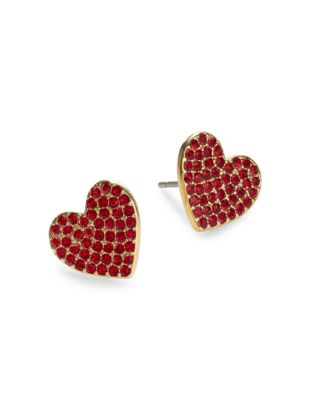 01a50725aeb9d Yours Truly Pave Heart Stud Earrings